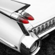Classic car tail fin and light detail — Stock Photo #2797733