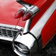 Stock Photo: Classic car tail fin and light detail