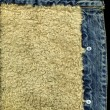 Denim Jacket Pocket Detail with Sheep Sk — Stock Photo #2797955