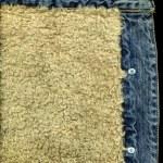 Denim Jacket Pocket Detail with Sheep Sk — Stock Photo