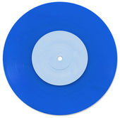 Blue 7 inch Vinyl Single — Stock Photo