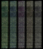 Multi Colored Vintage book spines — Stock Photo