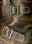 Old Leather Boot Texture with buckles. — Stock Photo