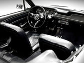 Interior of the classic sports car — Stok fotoğraf