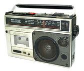 脏旧的 20 世纪 80 年代风格卡式录音机 ra — 图库照片