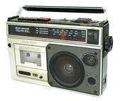 Dirty old 1980s style cassette player ra — Стоковое фото
