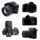 Digital SLR camera from all viewpoints — Stock Photo