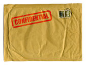 Large brown envelope with Confidential — Stock Photo