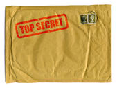 Large brown envelope with Top Secret — Stock Photo