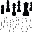 Chess Pieces — Vector de stock #2792269