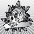 Day of the dead festival skull vector il - Stock Vector