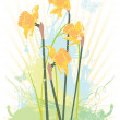 Spring floral grunge vector illustration — Stock Vector