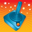Retro style games joystick vector illust - Vettoriali Stock