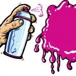 Hand with spray can cartoon vector illus — Stock Vector #2793021