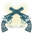 Royalty-Free Stock Vector Image: Hand guns vector illustration