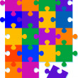 Jigsaw Pattern Background Design - Image vectorielle