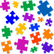 Jigsaw pieces vector illustration — Stock Vector