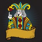 Playing card style Joker illustration — Stock Vector
