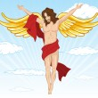 Royalty-Free Stock Vector Image: Male angel vector illustration