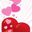 Royalty-Free Stock Imagen vectorial: Open heart shaped box vector illustratio