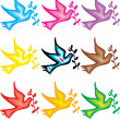 Peace Doves Symbol - Give peace a chance — Stock Vector