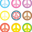 peace symbol - give peace a chance — Stock Vector