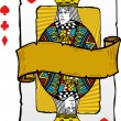 Playing card style queen illustration - Stockvektor