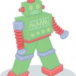 Retro style toy robot illustration — Stock Vector