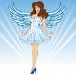 Sexy female angel or cupid figure vector — Stock Vector #2795171