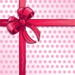Pink ribbon and bow vector illustration — Vettoriali Stock