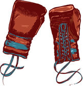 ビンテージ ボクシング グローブ ベクトル illustratio — ストックベクタ