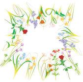 Illustrazione floreale fiore — Vettoriale Stock