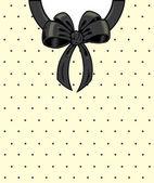 Chic polka dots and ribbon on a shirt de — Stock Vector