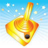 Golden joystick gamers award vector illu — Stock Vector