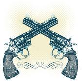 Hand guns vector illustration — Stock Vector