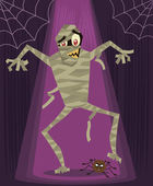 Mummy halloween character vector illustr — Vecteur