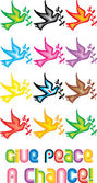 Peace Doves Symbol - Give peace a chance — Wektor stockowy