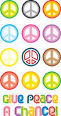 Peace Symbol - Give peace a chance — Wektor stockowy