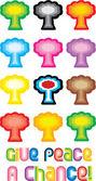 Drzewo pokoju lub symbol grzyb atomowy - gi — Wektor stockowy