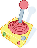 Retro style toy joystick illustration — Stock Vector
