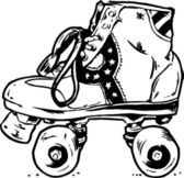 Retro roller stiefel illustration — Stockvektor