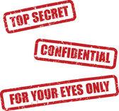 Top Secret Stamps — Stock Vector