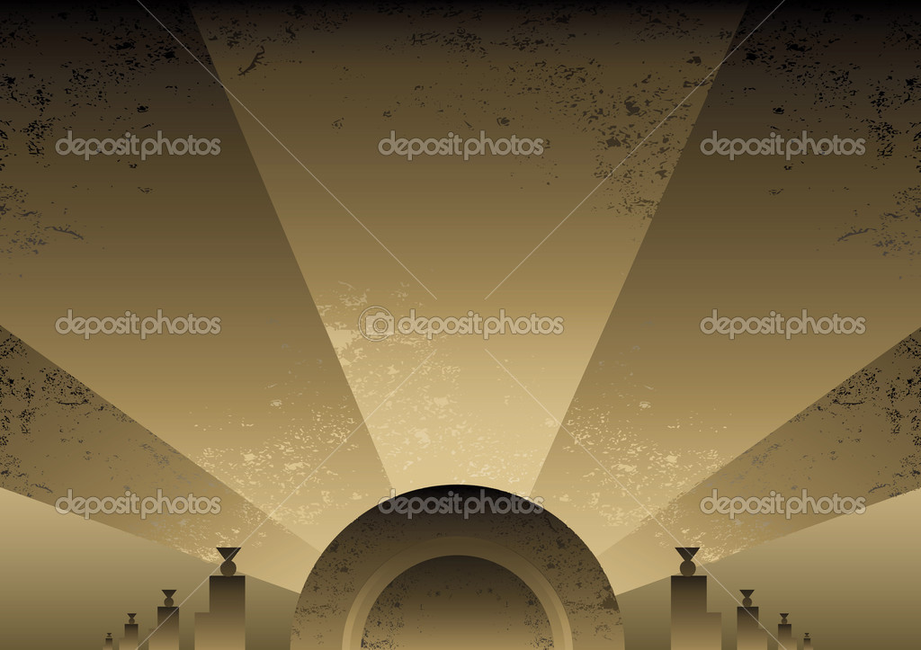 Art Deco Futurist style background design. Vector format and fully editable  Stock Vector #2792039