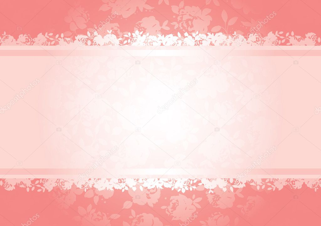 Valentines roses background pattern with copy space. All elements are separate and fully editable — Stock Vector #2795100