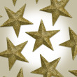 Stock Photo: Gold Christmas Stars