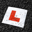 Learner drivers plate - Stock Photo