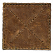 Stock Photo: Brown scratched leather patch