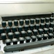 Stock Photo: Vintage old type writer keys