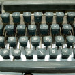 Stock Photo: Vintage old type writer detail