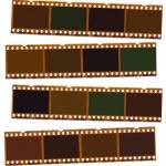 Photographic negative film strip — Stock Photo